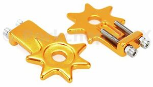 Black Ops CT 2.0 BMX Bike Chain Tensioner Adjustable Alloy For 3//8 Pair GOLD