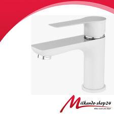 Waschtisch Waschtischarmatur Weiss Bad Armatur einhebelmischer Wasserhahn Weiß