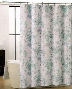 Tahari Home Calvin Blues Aqua White Floral Flowers Fabric