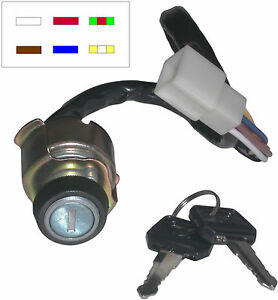 736835-Ignition-Switch-Kawasaki-Z650-Z750-6-wires-see-description