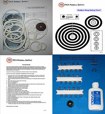 1972 Gottlieb Pop-A-Card Pinball Machine Tune-up Kit Includes Rubber Ring Kit