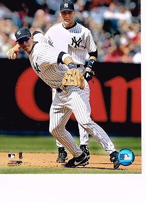 Alex Rodriguez/Derek Jeter (Yankees)  unsigned color 8x10 photo