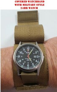 Image is loading Military-Style-Field-Watch-amp-Coyote-Covered-Watch- aeb9a7b1e31