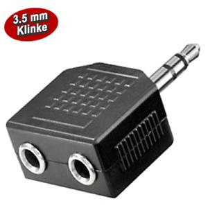 AUDIO Y ADAPTER - Doppeladapter - 3.5 mm Klinkenstecker auf 2 x 3.5 mm Buchse