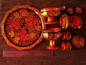 Russian-souvenir-Khokhloma-style-kitchen-set