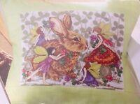 Rabbit And Garden Fairies By Joan Elliott Cross Stitch Chart
