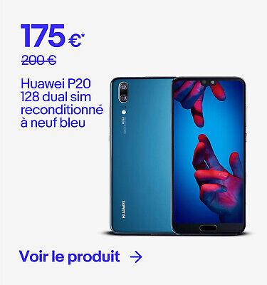 Huawei P20 128 dual sim reconditionné à neuf bleu - 175 €*