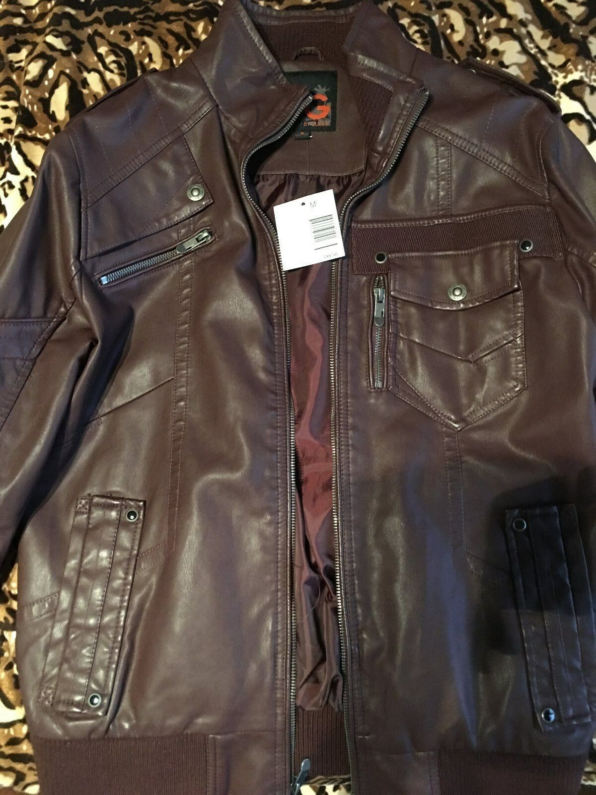 G by guess men leather coat