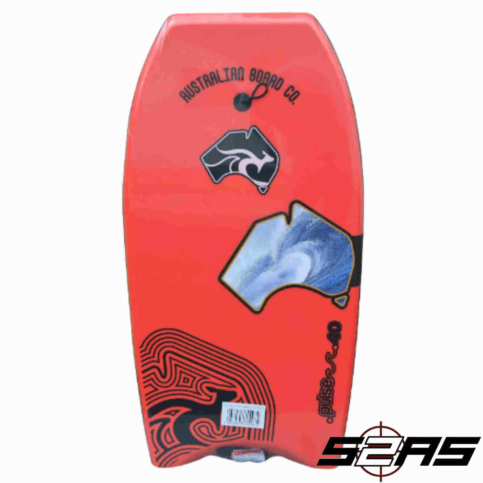 2019 Australian Board Co. Pulse Series EPS Bodyboard (rojo)