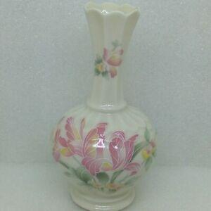 Vintage-CRE-Galway-Ireland-Floral-Bud-Vase-Iris-Flower-Porcelain