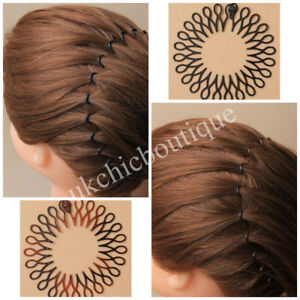 1x Stretch Zigzag Hair Band Headband Black or Brown Flexi Comb ... 3223b60b6f6