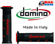 Domino XM2 Super Soft Dual Compound Motorcycle HandleBar Grips Black / Red