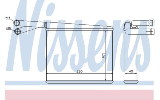 NISSENS Radiador de calefacción MERCEDES-BENZ SPRINTER 72043