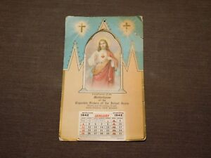 VINTAGE 1942 MOTHERHOUSE OF THE CAPUCHIN SISTERS RINGWOOD NEW JERSEY CALENDAR