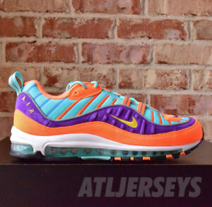 the best attitude 8f78d bc4d7 Image is loading Nike-Air-Max-98-QS-Cone-Tour-Yellow-