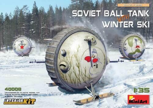 Miniart 1:35 Int Kit MIN40008 Soviet Ball Tank w// Winter Ski