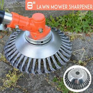 Lawn Mower Grass Trimmer Cutter Head Twist Knot Steel Wire Wheel Brush Disc Part