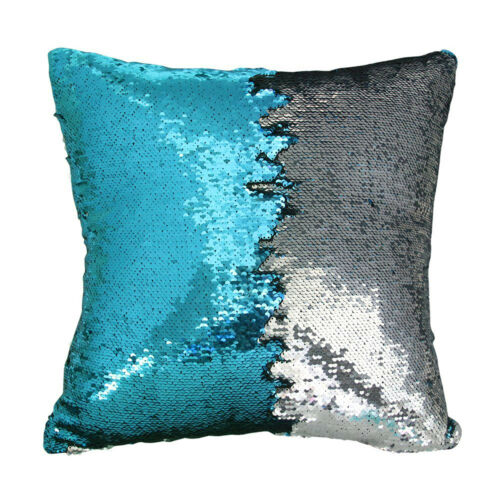 Mermaid Pillow Reversible Sequin Pillow with Color Changing  Cushion Cover