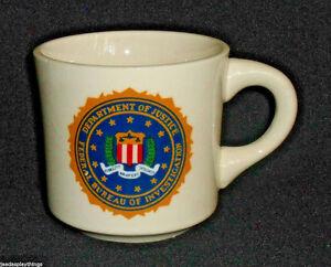 FBI-DOJ-Mug-Cup-Department-Of-Justice-Federal-Bureau-of-Investigation-Vtg