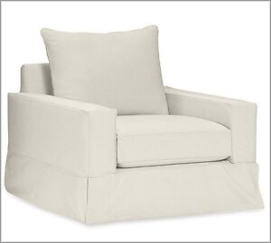 Image Is Loading Pottery Barn Comfort Square Grand Armchair Slipcover Set
