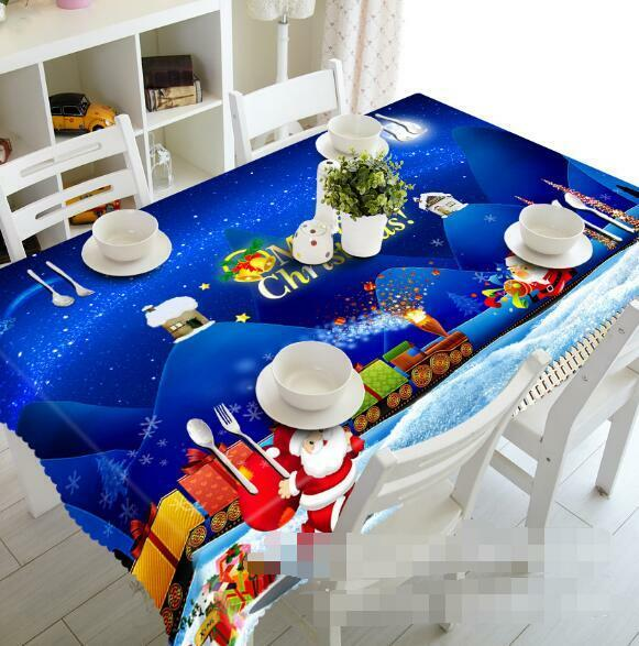 3D Winter 92 Tablecloth Table Cover Cloth Birthday Party Event AJ WALLPAPER UK