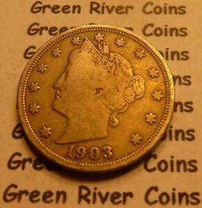 1903 Liberty Head Nickel  #QB03 better grade