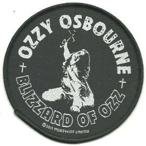 OZZY-OSBOURNE-blizzard-of-ozz-2015-circular-WOVEN-SEW-ON-PATCH-official-SEALED
