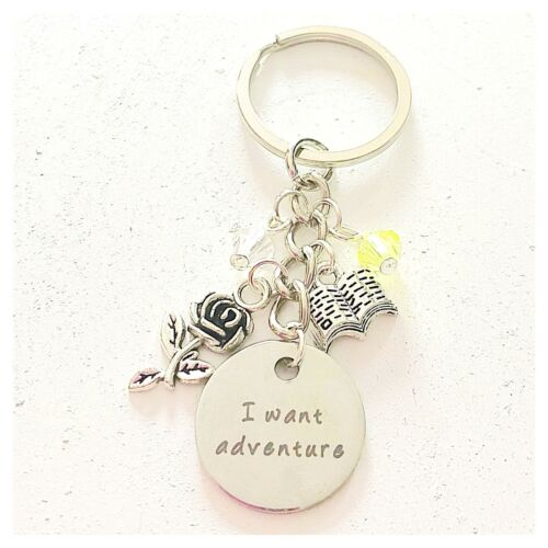 Beauty and the Beast Belle-Inspired Accessories Charm Keychain I Want Adventure