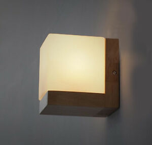 Image is loading Comfort-Solid-Wood-Wall-L&-Glass-Cover-Light- : diy wall lighting - www.canuckmediamonitor.org