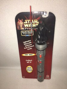 *MOC* STAR WARS Ep.1 Darth Maul Battle Saber - Hasbro Cap Candy - RARE!!