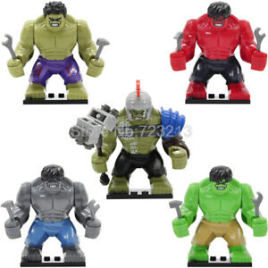 Hulk-Lego-Figure-Marvel-Super-Dc-Mini-Minifigure-Heroes-Big-Avengers-THANOS-Cave