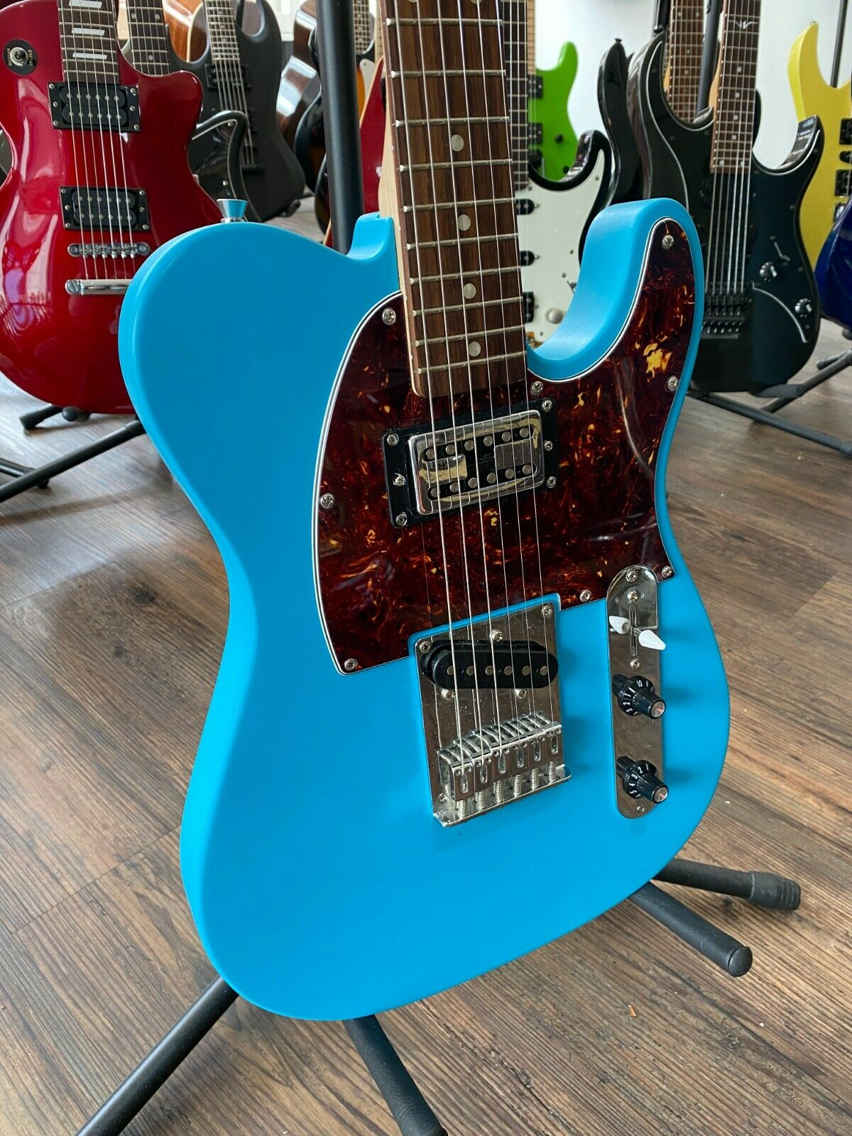 This Squier Telecaster electric guitar is for sale - Squier Affinity Telecaster Electric Guitar (China, 2014, with upgrades and mods)