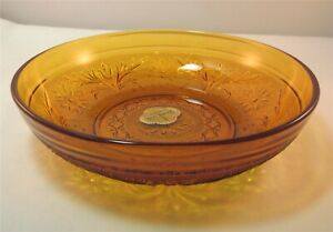 Anchor-Hocking-SANDWICH-Desert-Gold-Glass-Bowl-Cereal-Soup-Candy-New-With-Tag