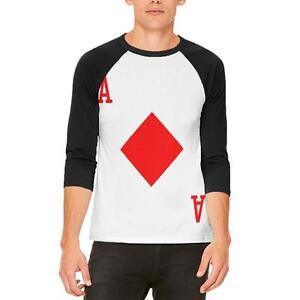 hombre raglán Camiseta soldado Diamonds de Disfraz de Of para Tarjeta Halloween Ace xpzqwPwZ7