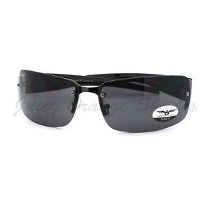 f3436c42458 Image is loading Rimless-Rectangular-Sunglasses-Mens-Designer-Fashion-Shades