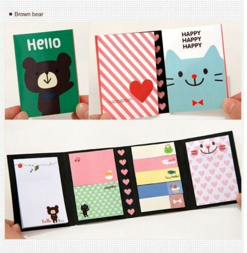BEAR-Animal-Post-IT-Bookmark-Point-Flags-Marker-Memo-Tab-Sticky-Notes-Sticker-AB