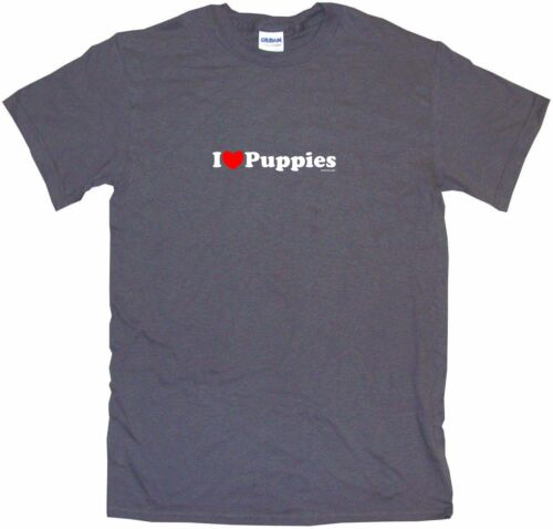 I Heart Love Puppies Mens Tee Shirt Pick Size Color Small-6XL