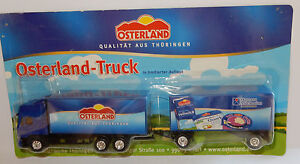 GRELL-HO-1-87-CAMION-REMORQUE-TRUCK-TRAILER-MAN-F2000-PRODUITS-OSTERLAND-IN-BOX