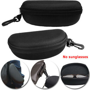 New Portable Zipper Eye Glasses Clam Shell Sunglasses Hard Case Protector Box High Quality Goods Men's Glasses