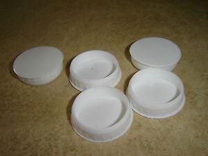 White Plastic Hinge Hole Cover Caps For Kithcen Cabinet