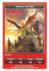 Karte-Carrefour-Dreamworks-Dragons-Terreur-Schreckliche-Nr-131