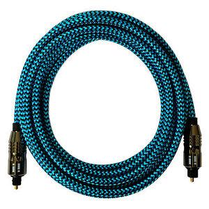 ® 3m Premium Nylon Optisches Toslink KabelDigital Hifi Audio LWLblau i!