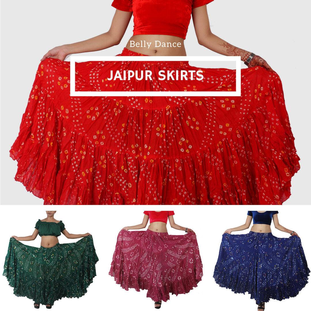JAIPUR Tribal Group Improv 25 Yard Polka Dot Belly Dancing Skirt - 12 Colours