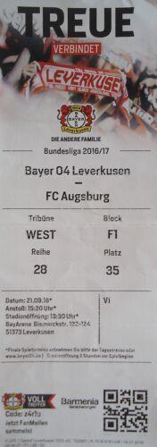 Billet BL 2016//17 Bayer 04 Leverkusen-FC Augsbourg