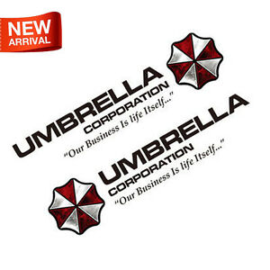 2-UMBRELLA-Corp-Ho-Resident-Evil-Car-Auto-Sticker-Decal-Vinyl-Reflective-New