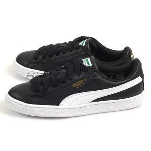 fa4657ed4f5 Image is loading Puma-Basket-Classic-LFS-Leather-Casual-Lifestyle-Black-