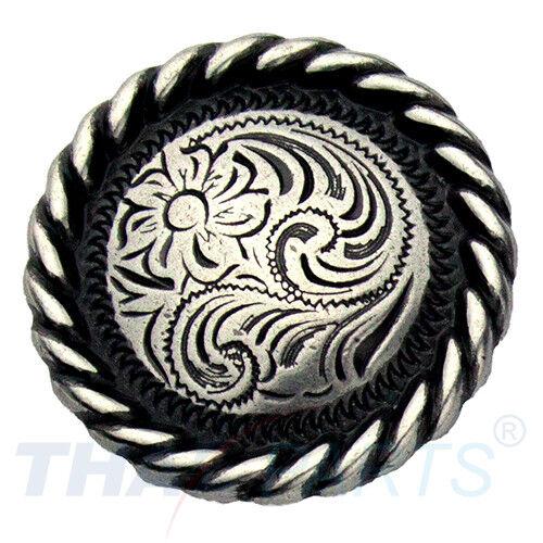 Concho #052 25mm Western Zaum Seil Concho Antik Silber Conchos Concha
