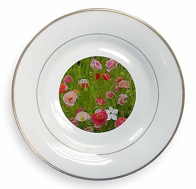 Poppies In Poppy Field Gold Rim Plate In Gift Box Christmas Present, Fl-1pl Nutriente I Reni Alleviare I Reumatismi