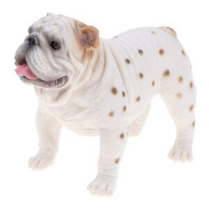 Plastic-White-British-Bulldog-Model-Figure-Statue-Toy-Home-Decor-Collectible