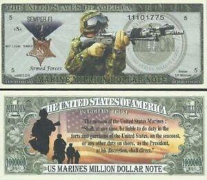 Commemorative-U-S-MARINE-CORPS-Million-Dollar-SEMPER-FI-Novelty-Bill-USA-SELLER